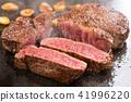 烤牛排肉 41996220