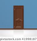 wooden entrance door vector 41998187