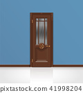 wooden entrance door vector 41998204
