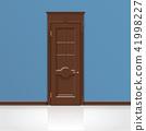 wooden entrance door vector 41998227
