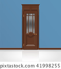wooden entrance door vector 41998255