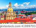 Aerial view of the Old Town of Dresden, Germany 41999703