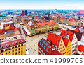 Aerial panorama of Wroclaw, Poland 41999705