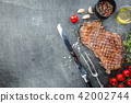 Grilled ribeye beef steak 42002744