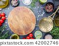 Food background on black table 42002746