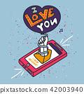 love, heart, vector 42003940