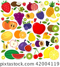 Set of different kinds of fruits icons 42004119