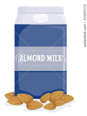 Almond Milk Illustration 42004132