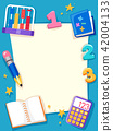 Math Paper Objects Frame Background Illustration 42004133