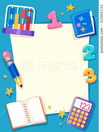 Math Paper Objects Frame Background Illustration 42004133