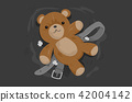 Teddy Bear Child Abuse Concept Illustration 42004142