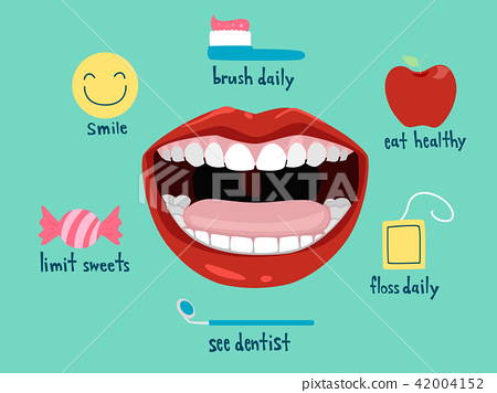 Healthy Mouth Habit Illustration 42004152