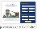 Onboarding screens design in Hotel booking form 42005023