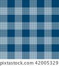 Indigo Blue Tartan Seamless Background 42005329
