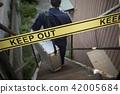 警察 禁止入內 阻止進入 42005684
