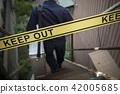 警察 禁止入內 阻止進入 42005685