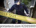 警察 禁止入內 阻止進入 42005689