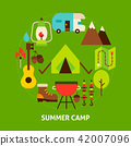 camp, icon, camping 42007096