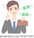 皮夾 錢包 白色背景 42007162