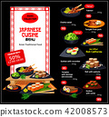 Vector menu for Japanese cuisine dishes 42008573