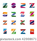 Vector letter Z icons for brand company identity 42008671
