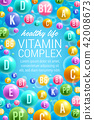 Vector poster of vitamins and multivitamins 42008673