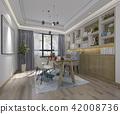 modern wood minimal working room 42008736