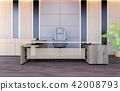 Modern office working room interior, 3D rendering 42008793