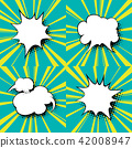 Set of Speech Bubbles, Pop Art Background 42008947