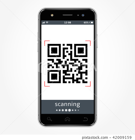 Smartphone with a qr code scanning 42009159