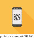 smartphone, qr, code 42009161