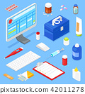 medical, equipment, isometric 42011278