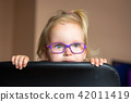glasses, girl, chair 42011419