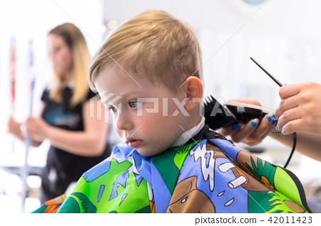 Haircut of three years old boy 42011423
