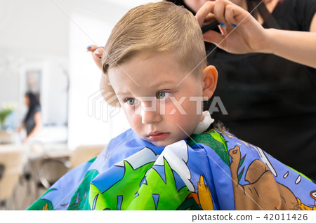 Haircut of three years old boy 42011426