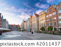 Architecture of the old town in Gdansk, Poland. 42011437