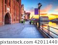 Port crane at Motlawa river in Gdansk, Poland 42011440