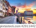 Port crane at Motlawa river in Gdansk, Poland 42011442