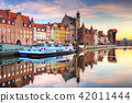 Beautiful old town of Gdansk at sunrise, Poland. 42011444
