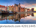 Beautiful old town of Gdansk at sunrise, Poland. 42011445
