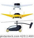 Flying cars concepts. Vehicles of future 42011460