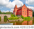 Renaissance chateau Cervena Lhota in Southern Bohemia, Czech Republic. Idyllic and picturesque fairy 42011548
