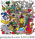 doodle, monster, funny 42011896