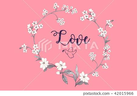 優雅的水彩花卉 42015966