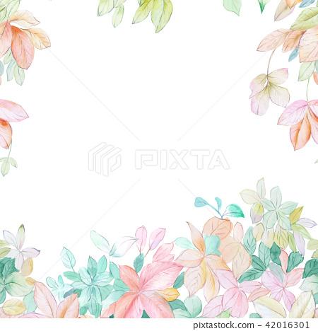 水彩葉子森林 42016301