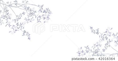 粉色水彩花卉 42016364