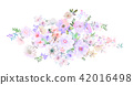 Colorful watercolor flower roses and branches 42016498