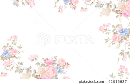 水彩玫瑰花卉組合 42016627