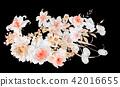 水彩玫瑰花卉组合 42016655