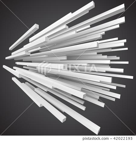 white square rods abstract. 3d style vector illustration 42022193